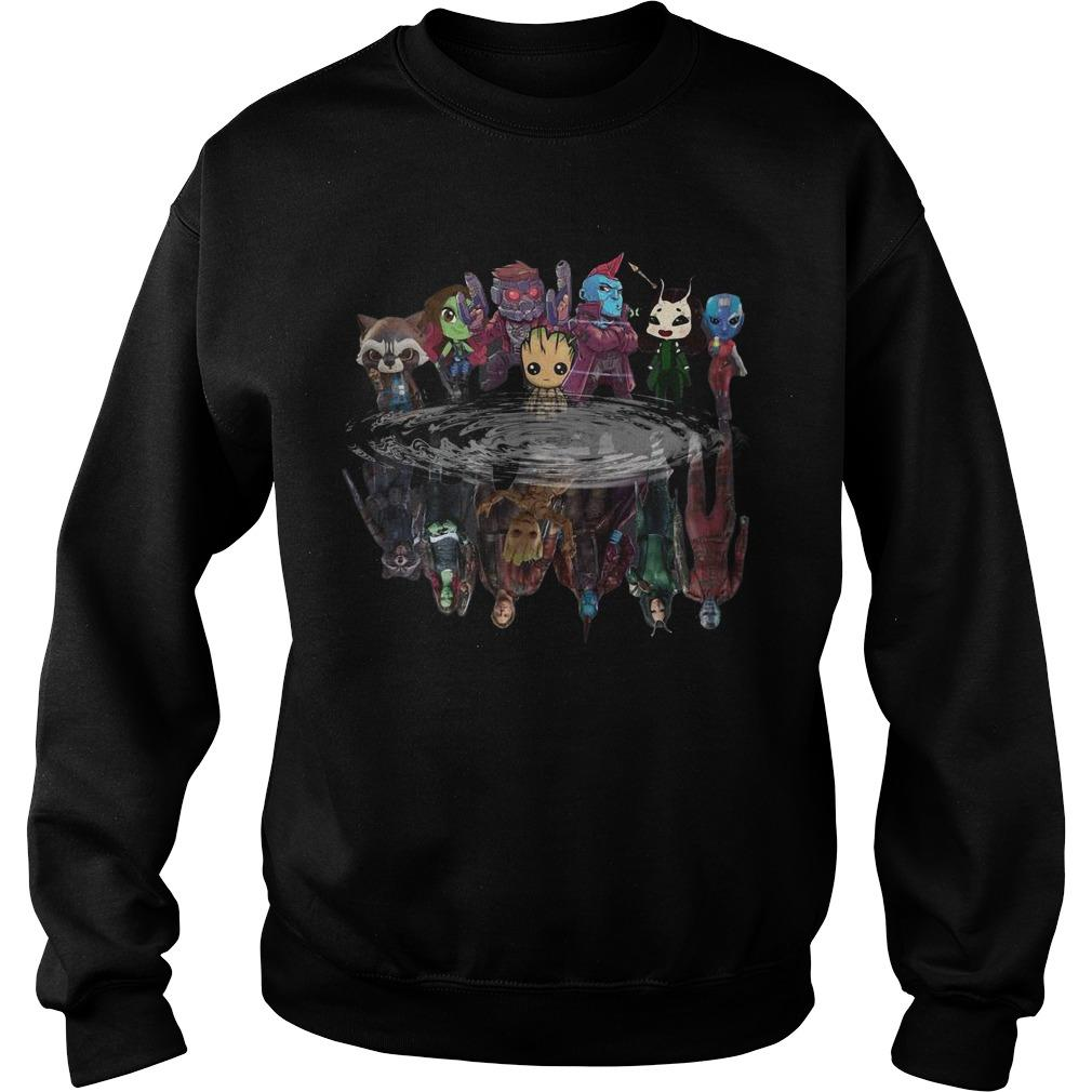 Guardians Of Galaxy Characters Water Mirror Reflection Sweater