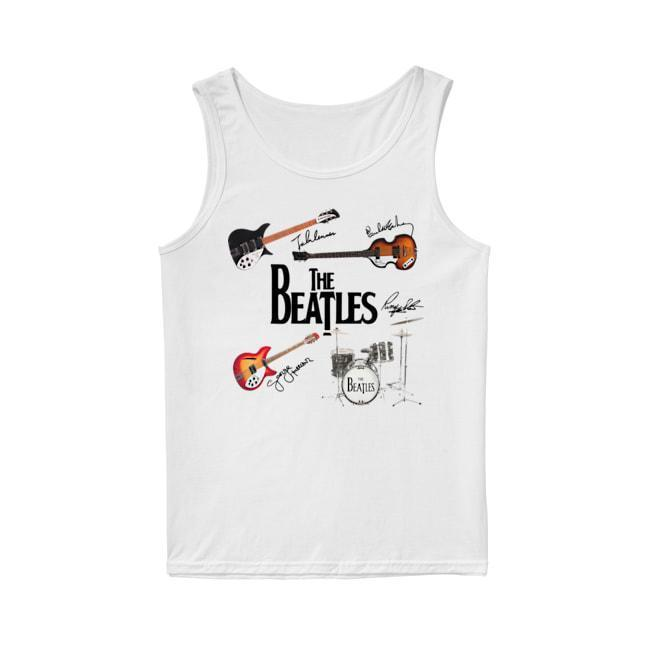 Guitars Instrument The Beatles Signatures Tank Top
