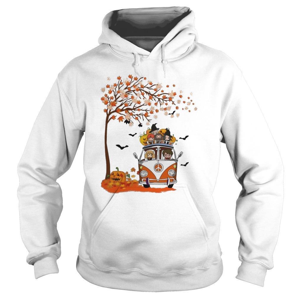 Halloween Autumn Tree Harry Potter Characters On Van Hoodie