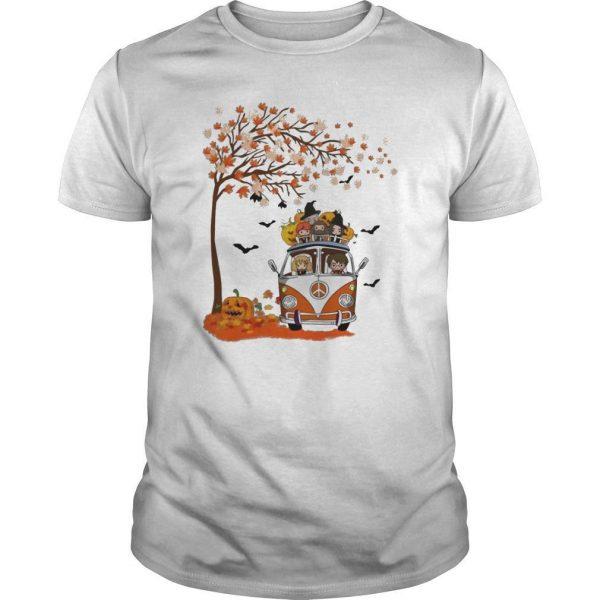 Halloween Autumn Tree Harry Potter Characters On Van Shirt