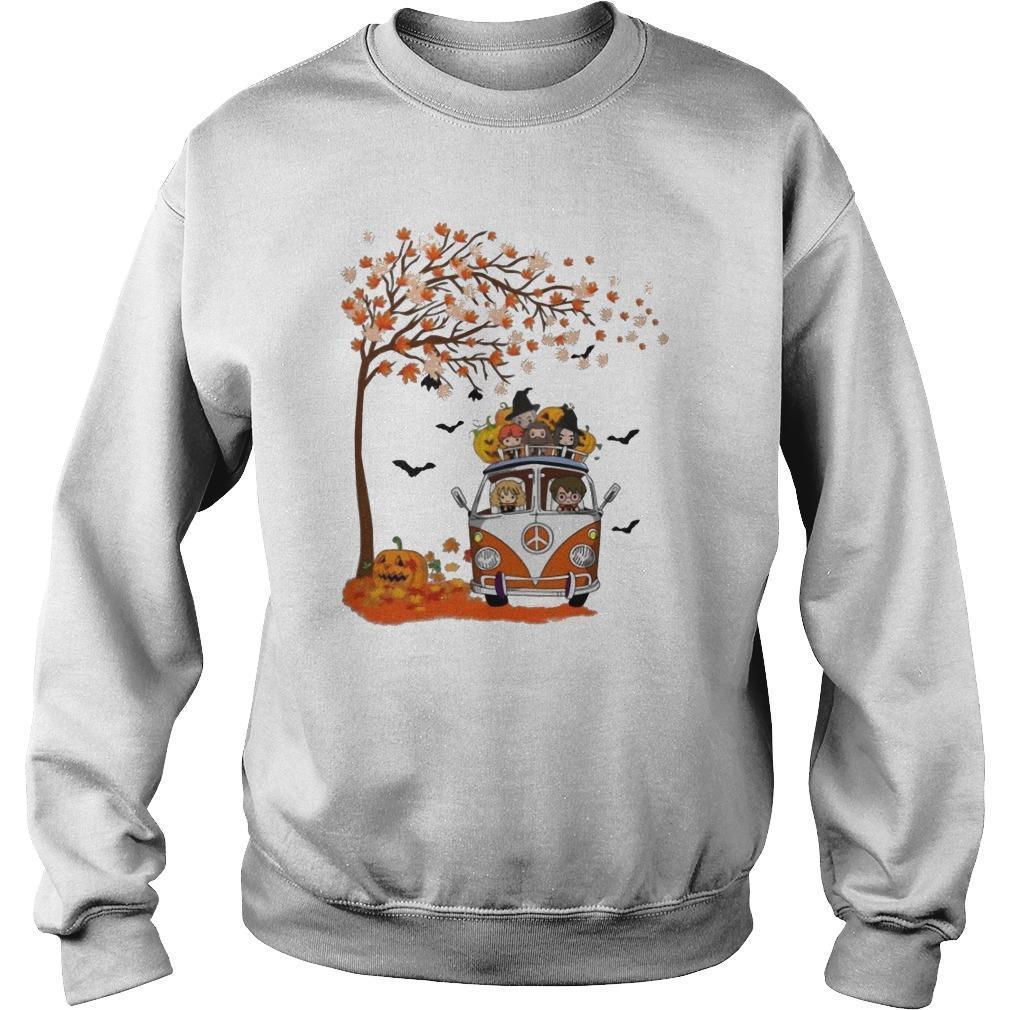 Halloween Autumn Tree Harry Potter Characters On Van Sweater