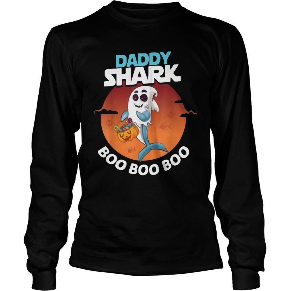 Halloween Ghost Daddy Shark Boo Boo Boo Shark Longsleeve