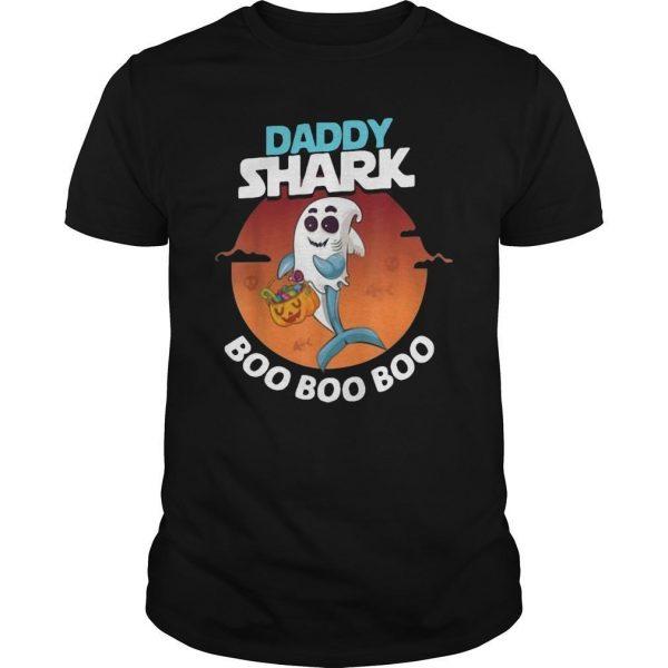 Halloween Ghost Daddy Shark Boo Boo Boo Shark Shirt