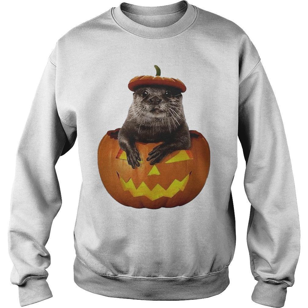 Halloween Otter Pumpkin Sweater
