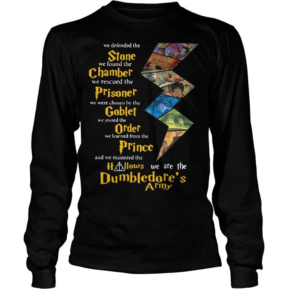 Harry Potter Stone Chamber Prisoner Goblet Order Prince Hallows Dumbledore's Army Longsleeve