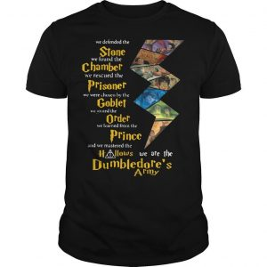 Harry Potter Stone Chamber Prisoner Goblet Order Prince Hallows Dumbledore's Army Shirt