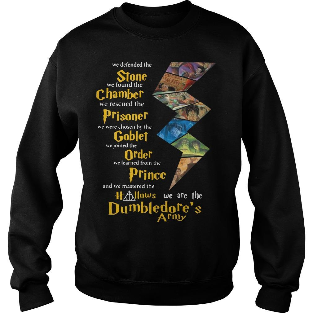 Harry Potter Stone Chamber Prisoner Goblet Order Prince Hallows Dumbledore's Army Sweater