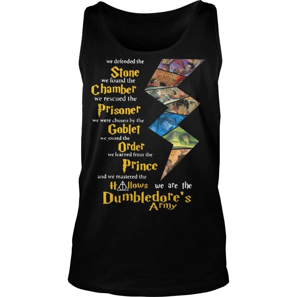 Harry Potter Stone Chamber Prisoner Goblet Order Prince Hallows Dumbledore's Army Tank Top