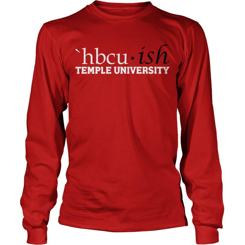Hbcuish Temple University Longsleeve