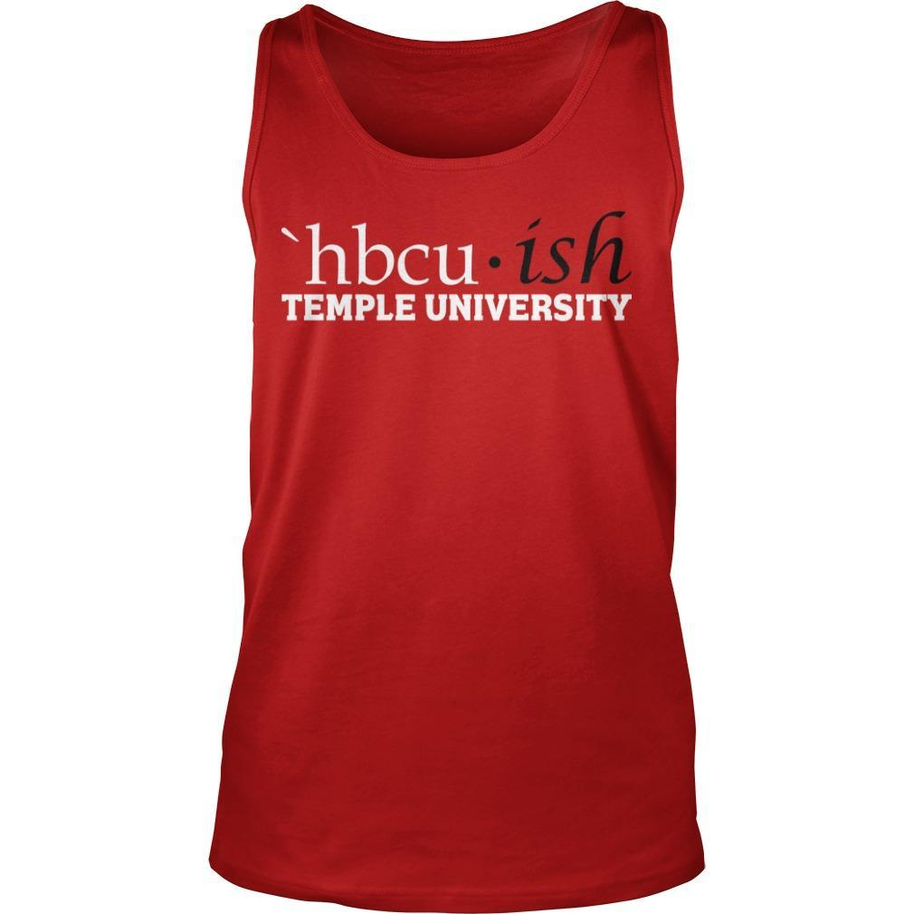 Hbcuish Temple University Tank Top