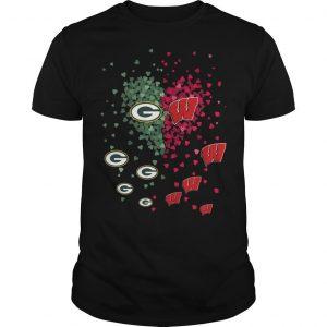 Heart Green Bay Packers Washington Nationals Shirt