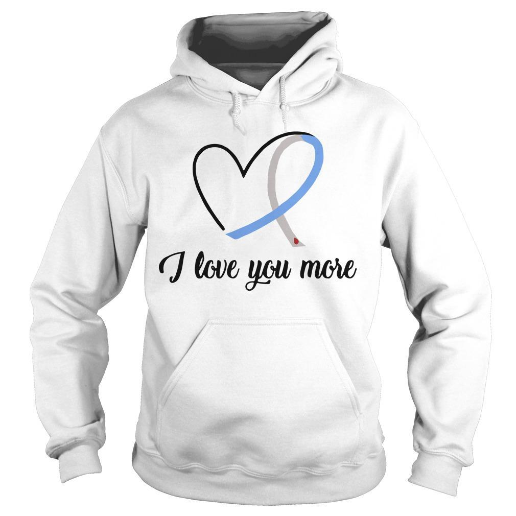 Heart Ribbon Diabetes I Love You More Hoodie