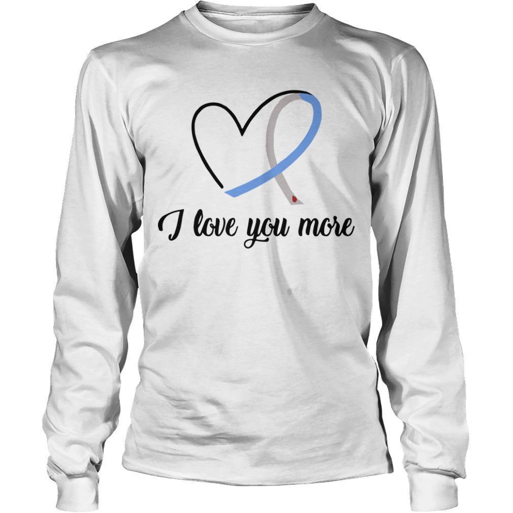 Heart Ribbon Diabetes I Love You More Longsleeve