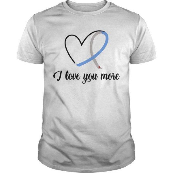 Heart Ribbon Diabetes I Love You More Shirt
