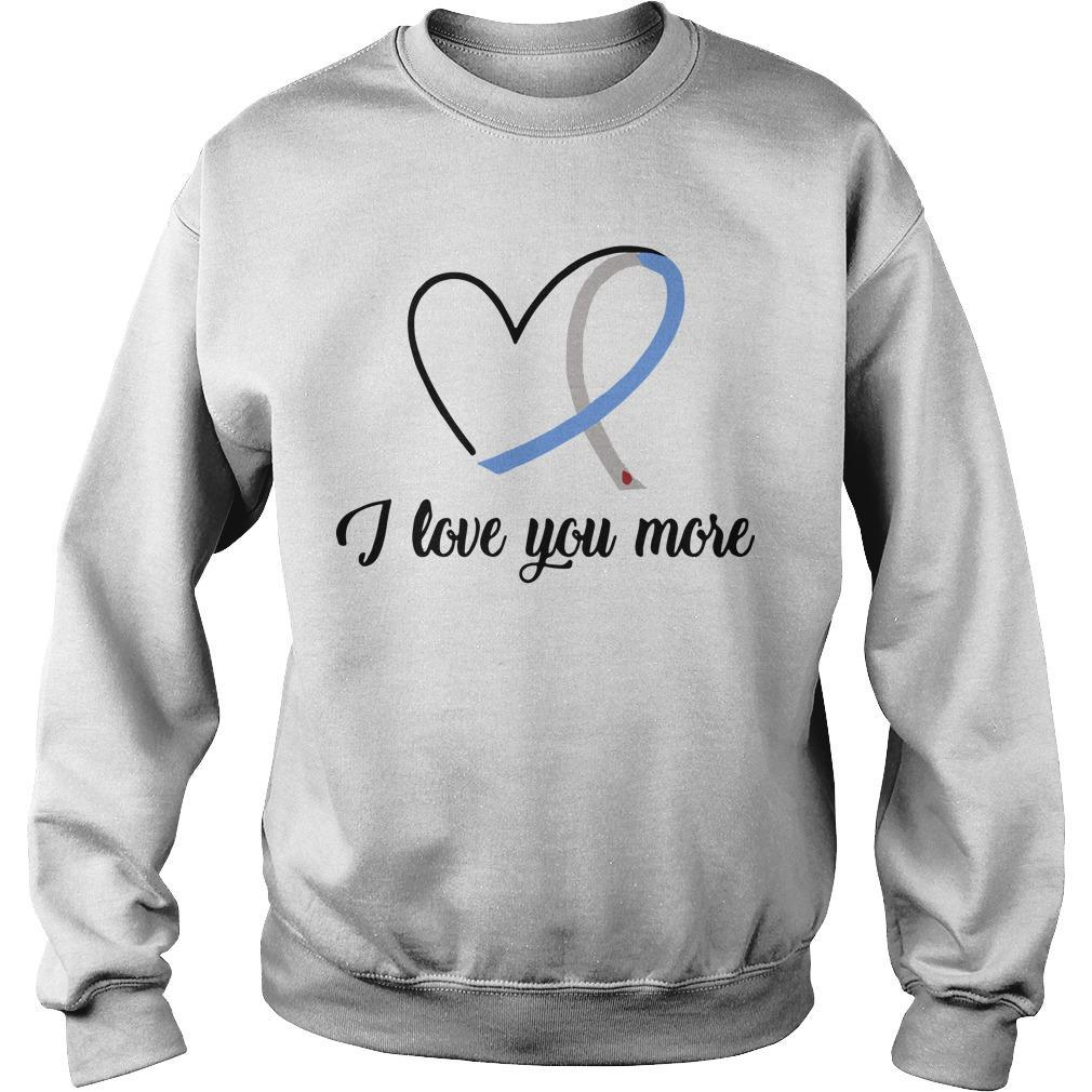 Heart Ribbon Diabetes I Love You More Sweater