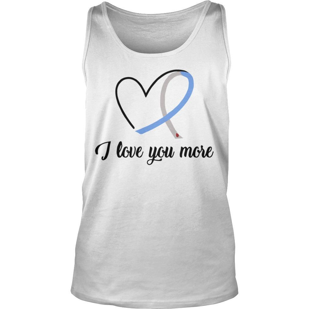 Heart Ribbon Diabetes I Love You More Tank Top