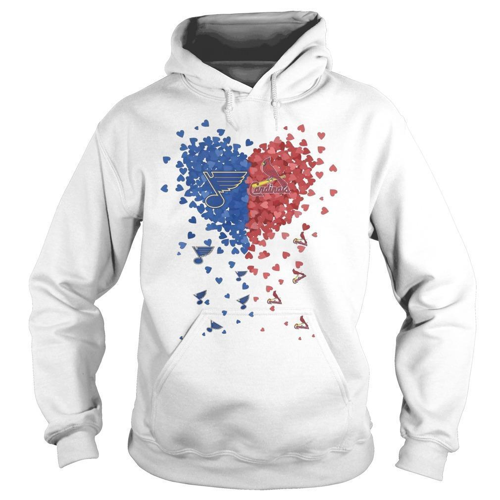Heart St Louis Blues And Cardinals Hoodie