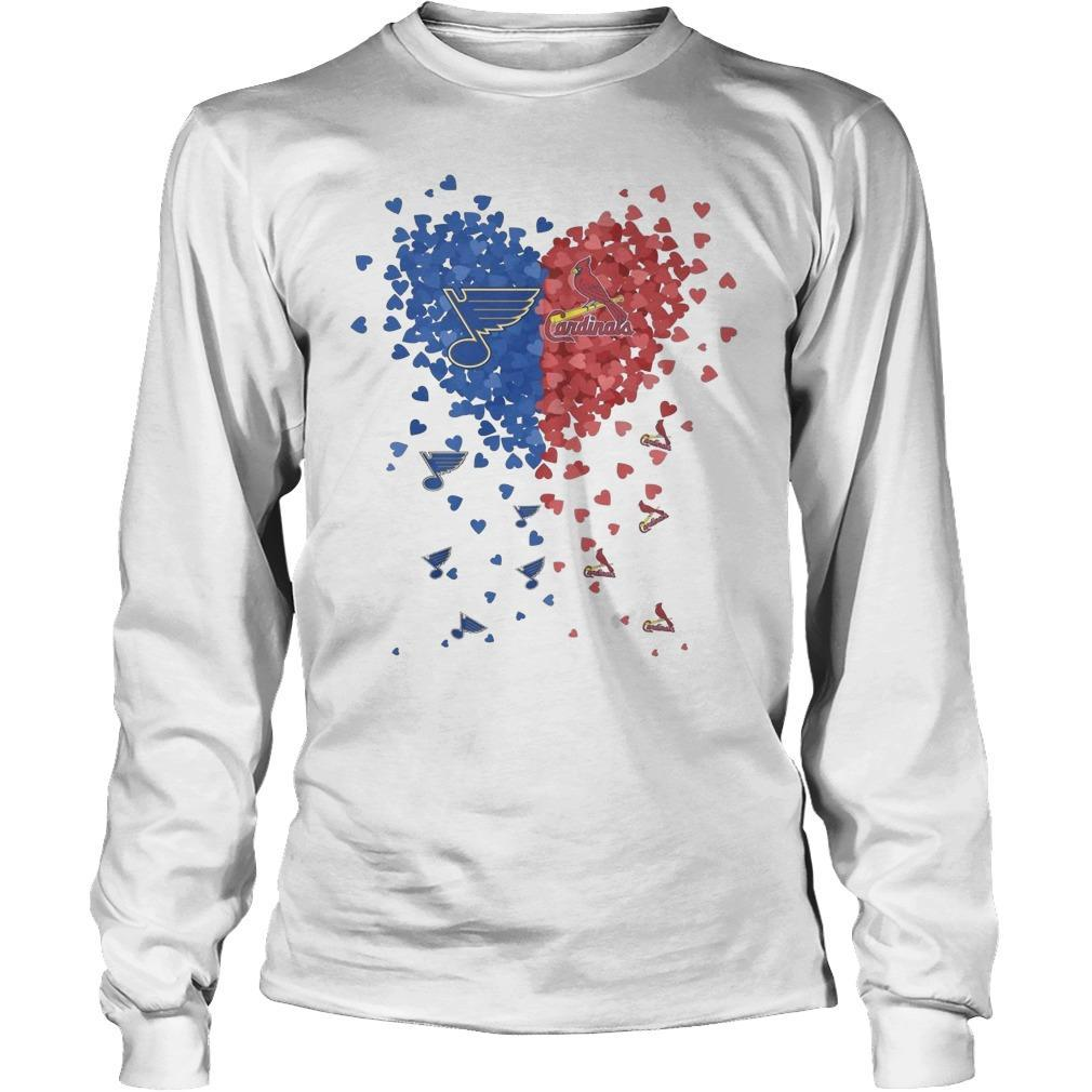 Heart St Louis Blues And Cardinals Longsleeve
