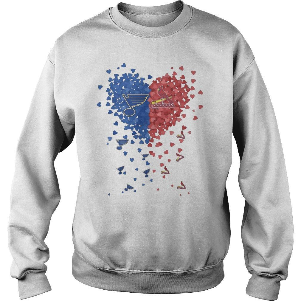 Heart St Louis Blues And Cardinals Sweater