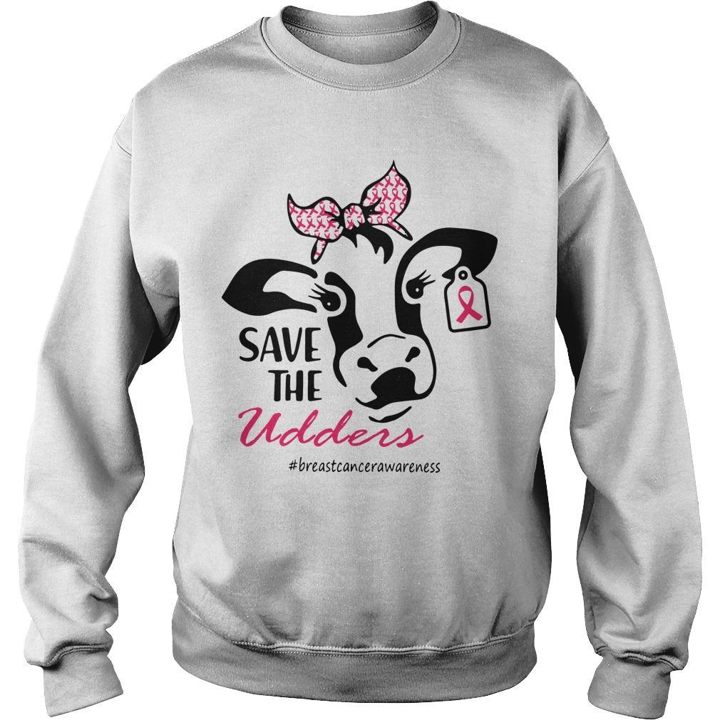 Heifer Save The Udders #breastcancerawareness Sweater