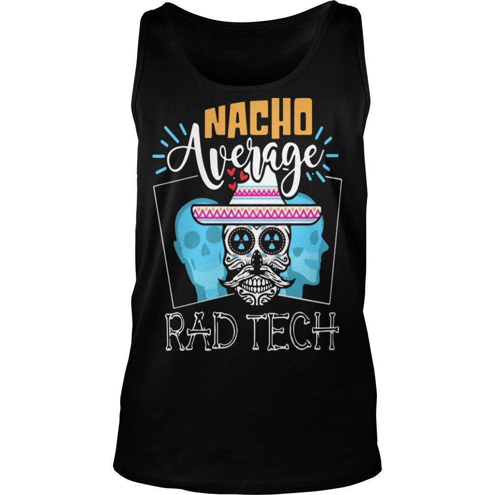 Hippie Skull Nacho Average Rad Tech Tank Top