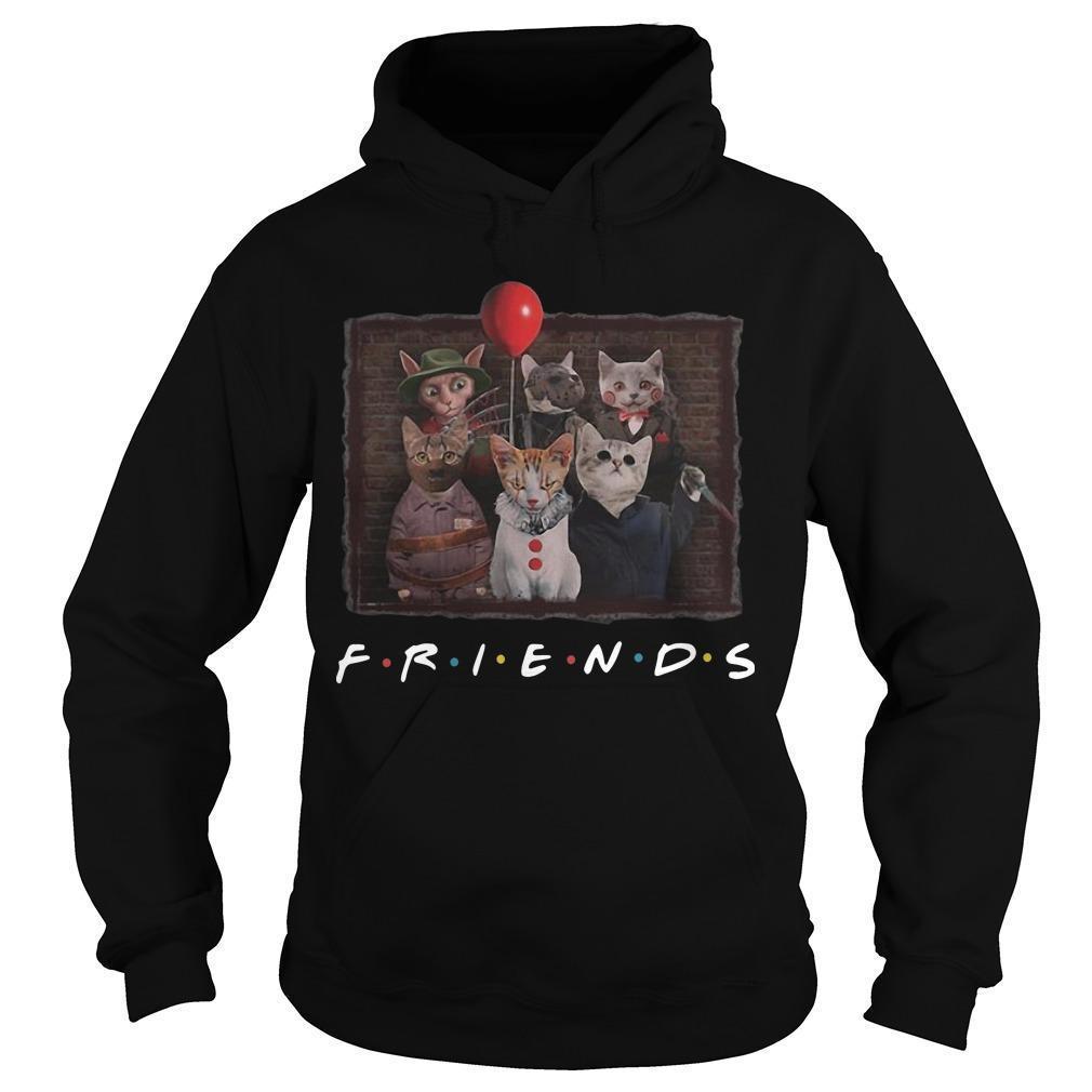 Horror Characters Cat Ver Friends Tv Show Hoodie
