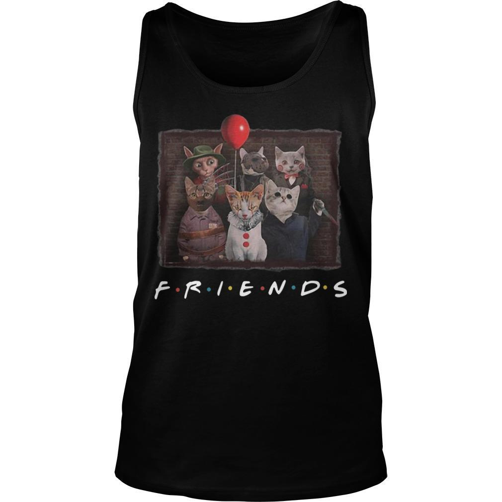 Horror Characters Cat Ver Friends Tv Show Tank Top