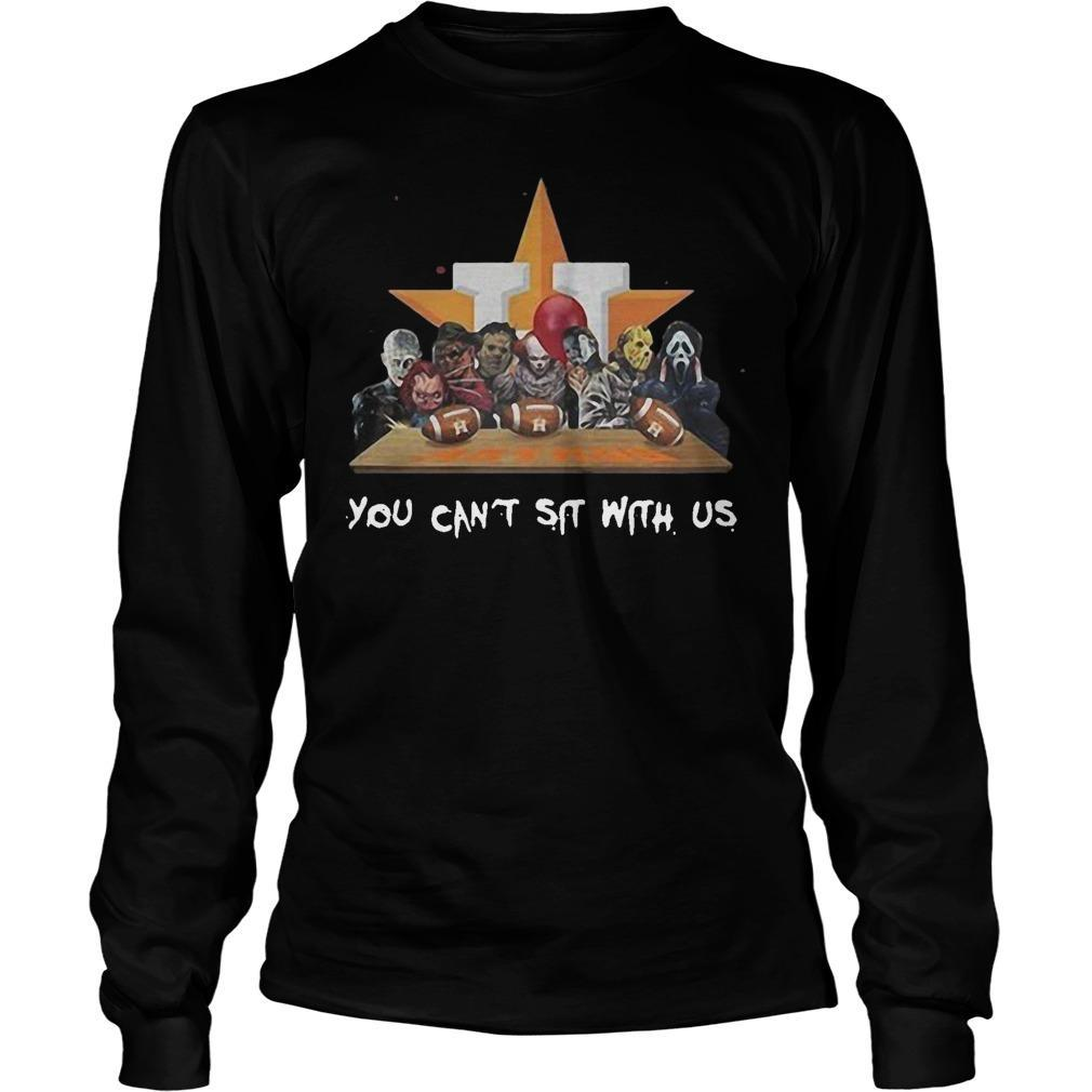 Horror Characters Houston Astros You Can't Sit With Us Longsleeve