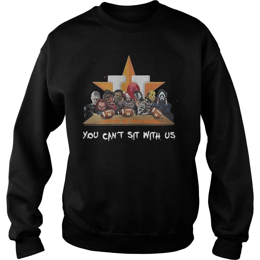 Horror Characters Houston Astros You Can't Sit With Us Sweater