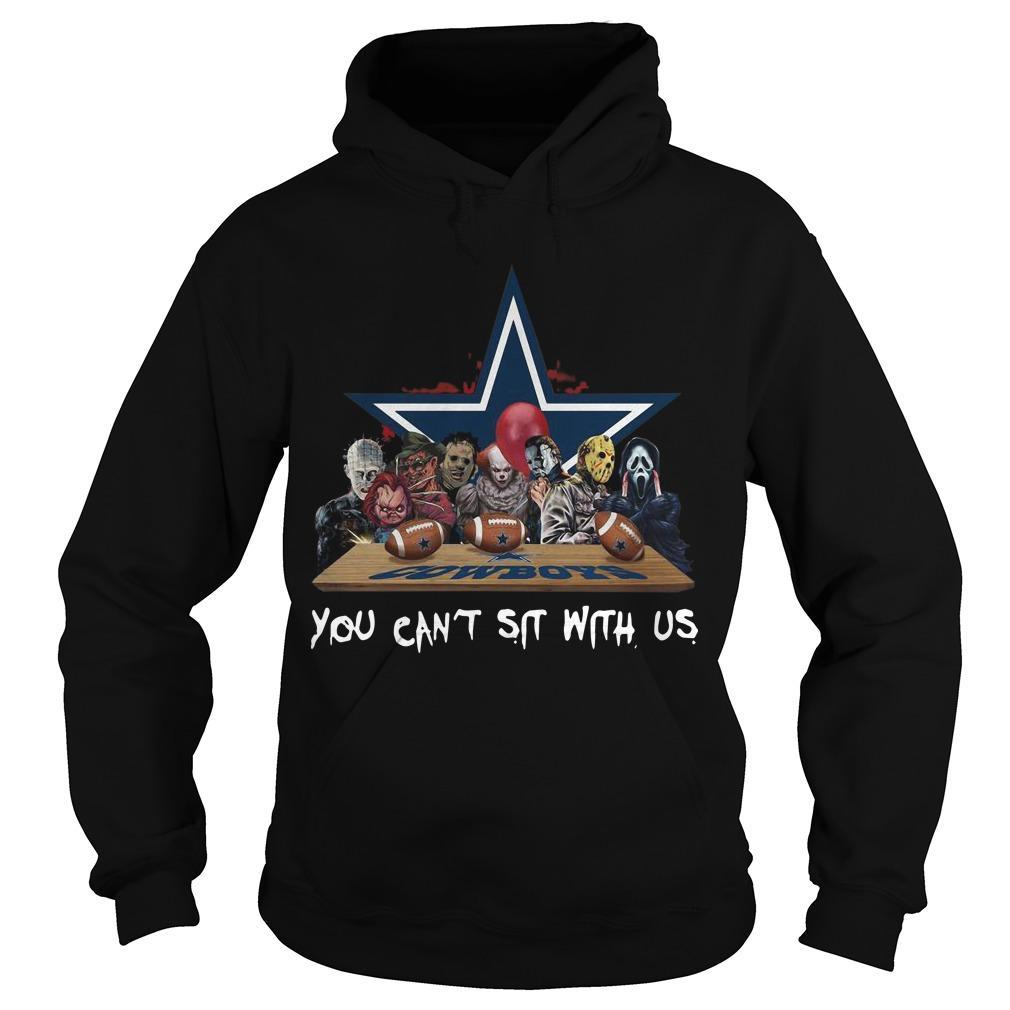 Horror Characters You Can't Sit With Us Dallas Cowboys Hoodie