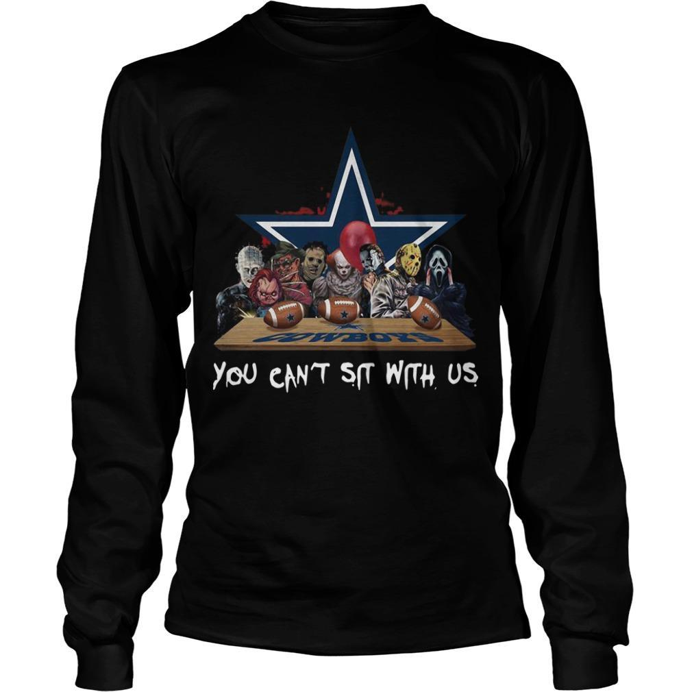 Horror Characters You Can't Sit With Us Dallas Cowboys Longsleeve