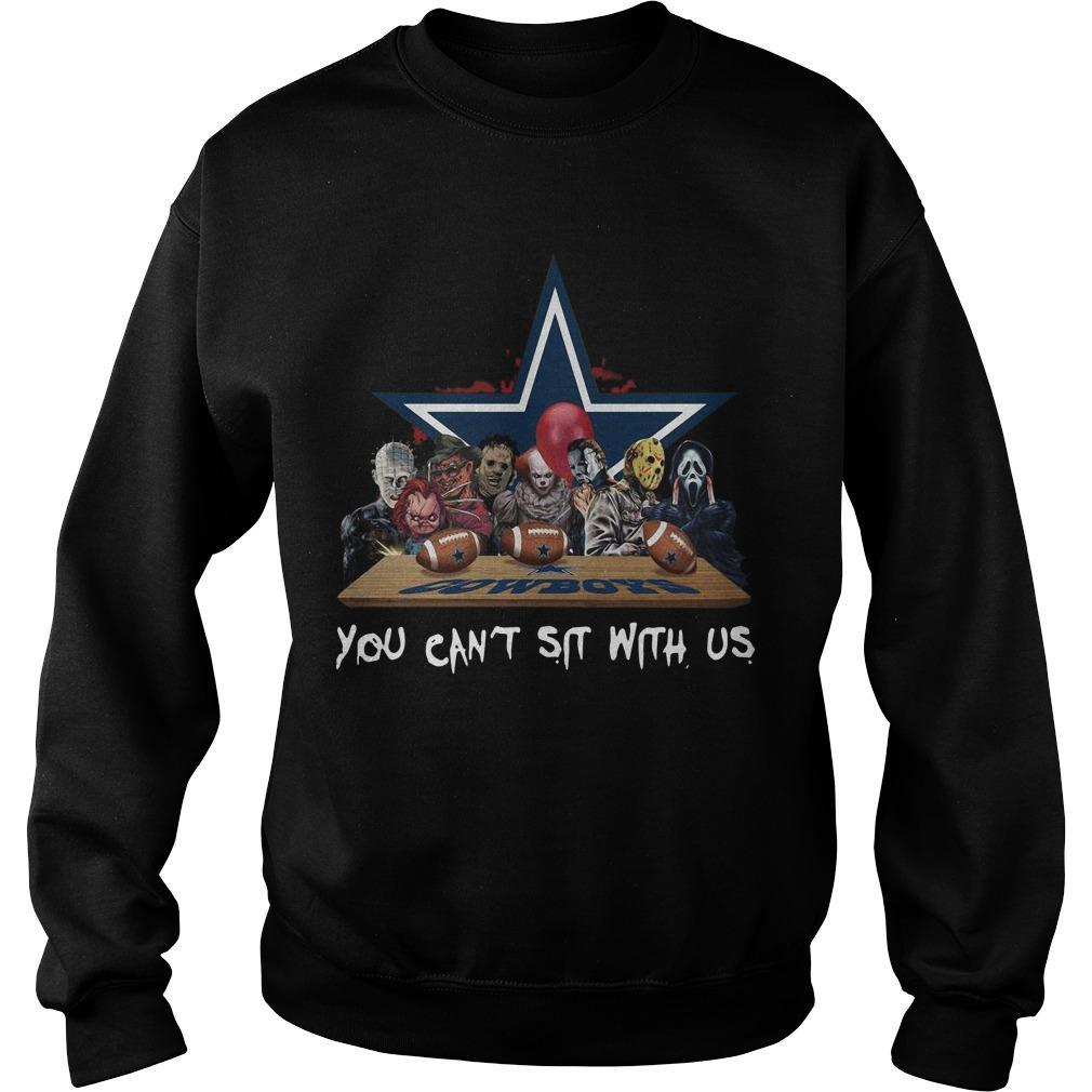 Horror Characters You Can't Sit With Us Dallas Cowboys Sweater