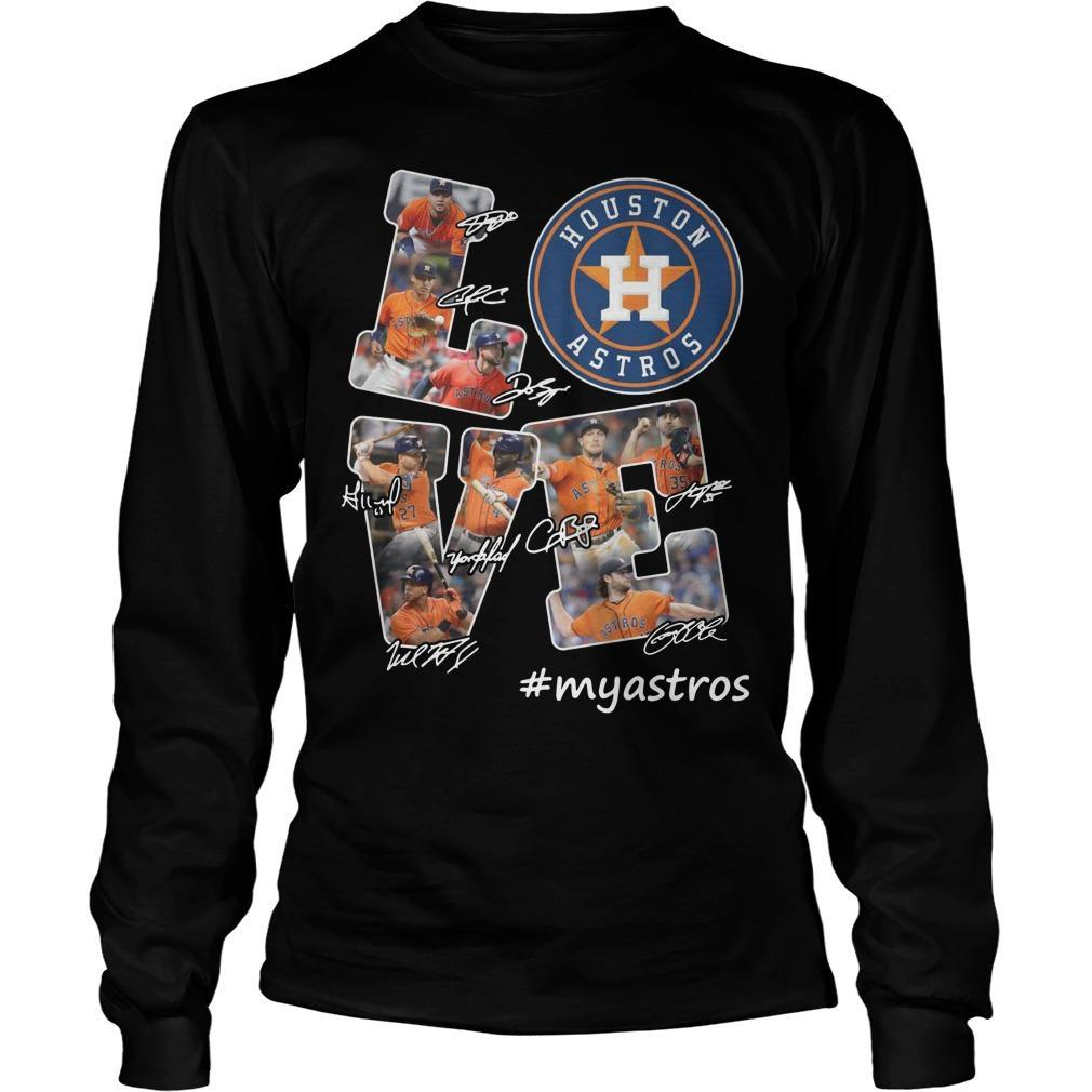 Houston Astros Love #myastros Longsleeve