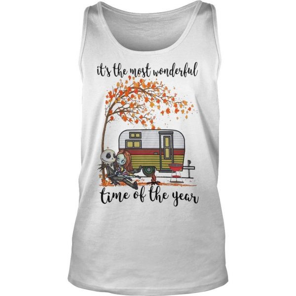 Jack Skellington And Sally It's The Most Wonderful Time Of The Year Shirt