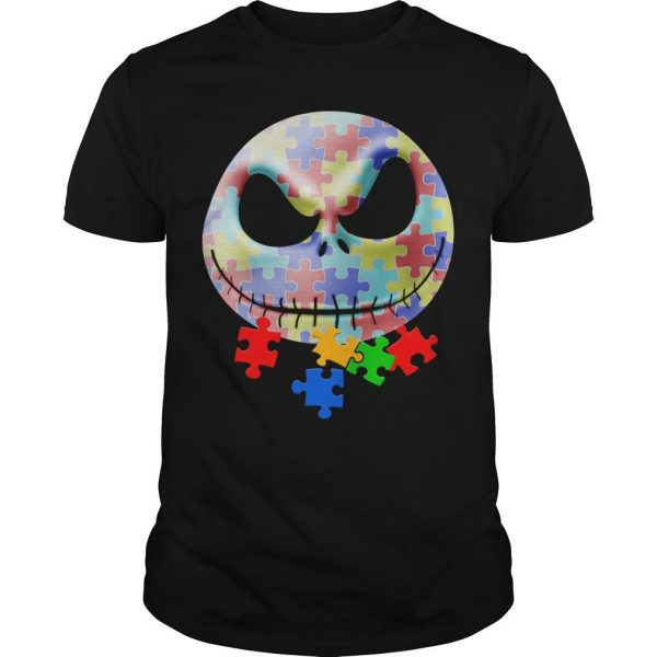 Jack Skellington Face Autism Shirt