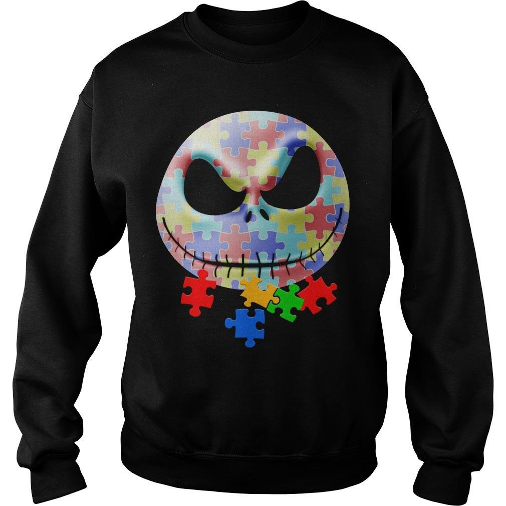 Jack Skellington Face Autism Sweater