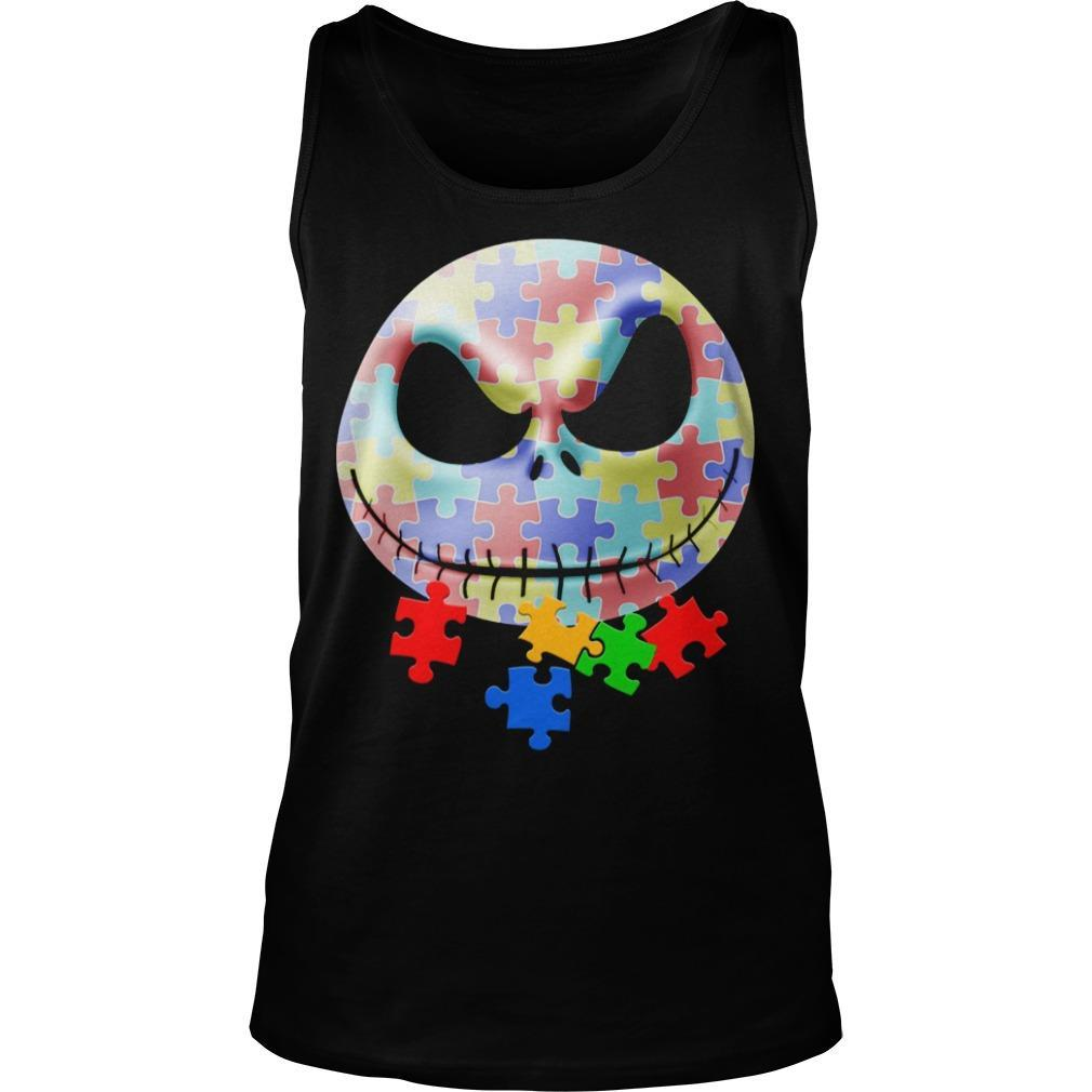 Jack Skellington Face Autism Tank Top