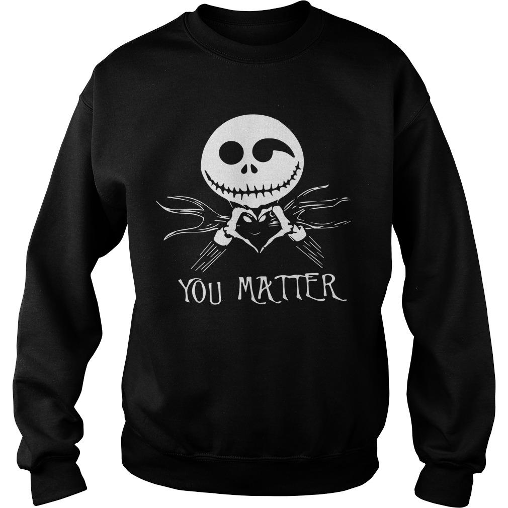 Jack Skellington Love You Matter Sweater
