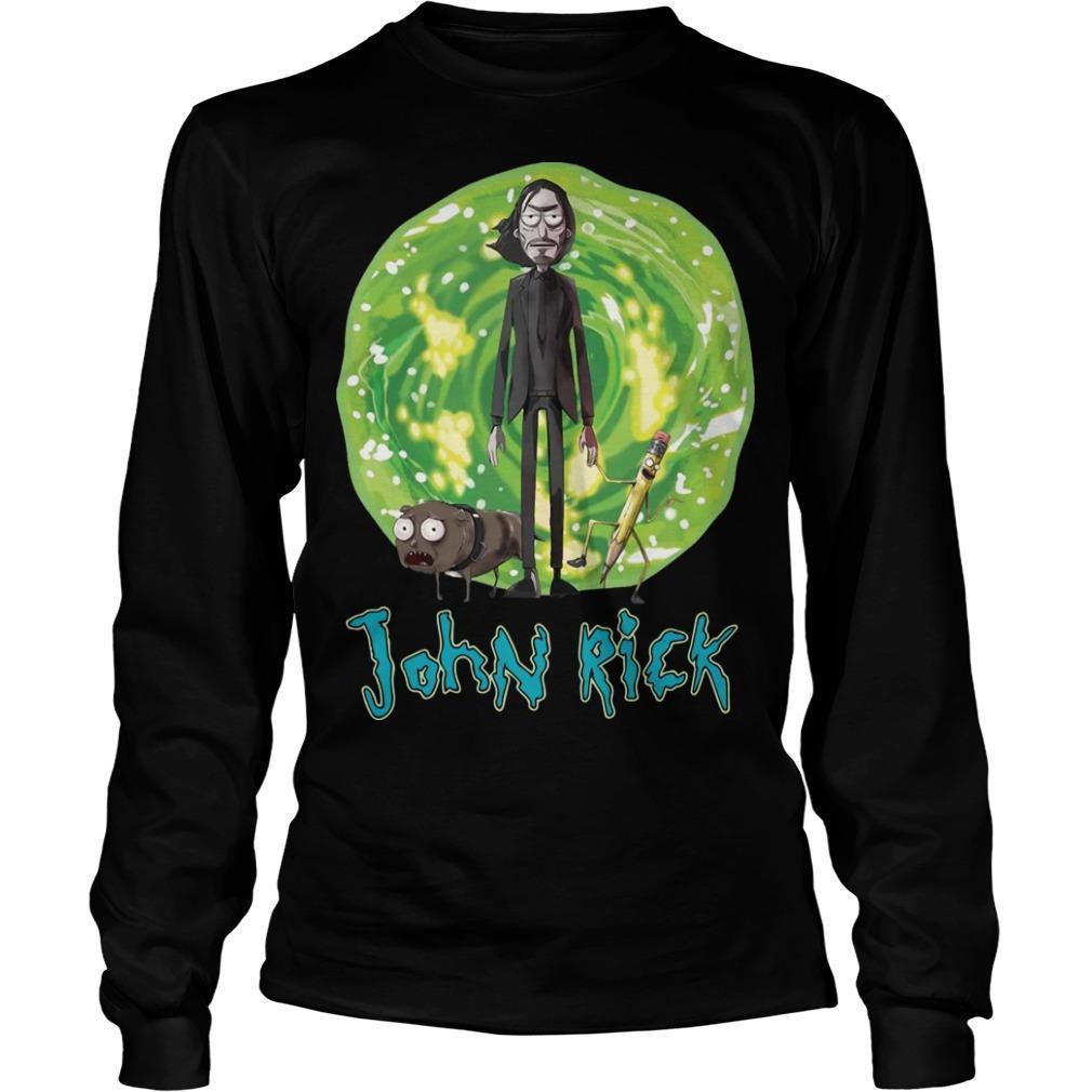 John Wick Rick And Morty John Rick Longsleeve
