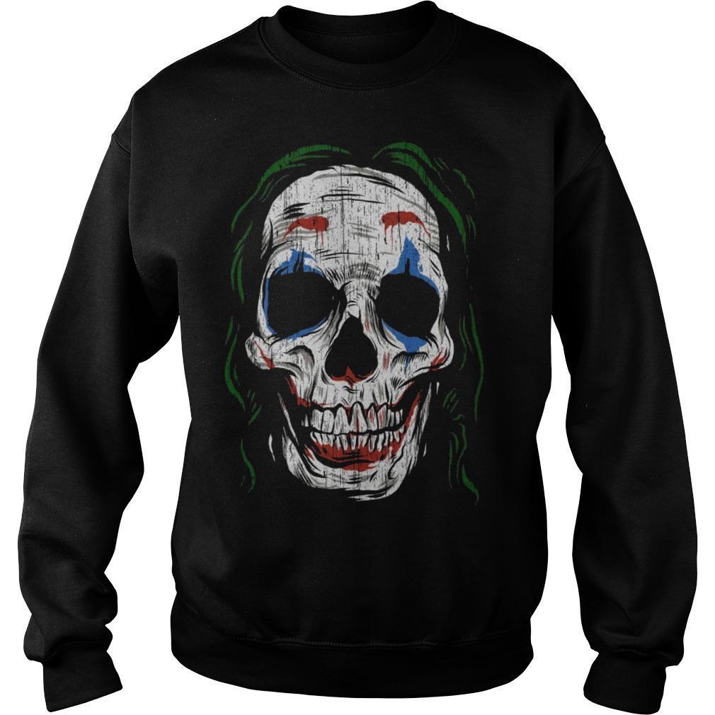 Joker Smiling Skull Sweater