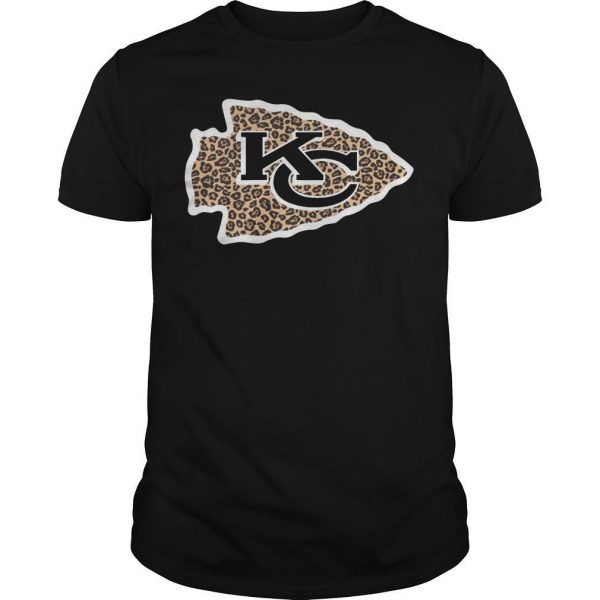 Leopard Print Kansas City Chiefs Logo Shirt