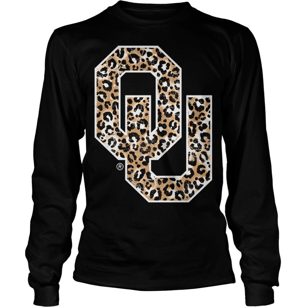 Leopard Print Oklahoma Sooners Longsleeve