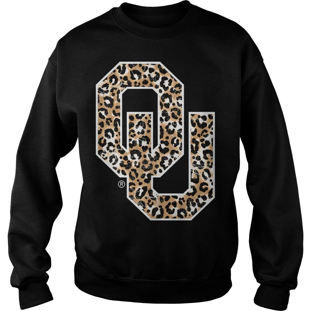 Leopard Print Oklahoma Sooners Sweater