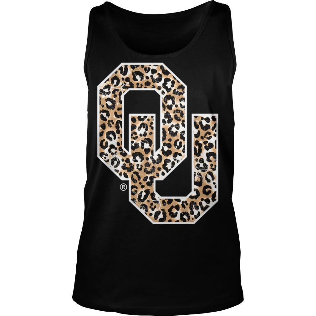 Leopard Print Oklahoma Sooners Tank Top