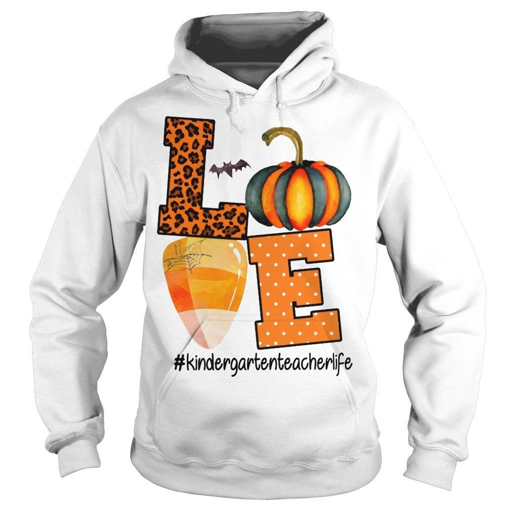 Leopard Print Pumpkin Beach Love #kindergartenteacherlife Hoodie