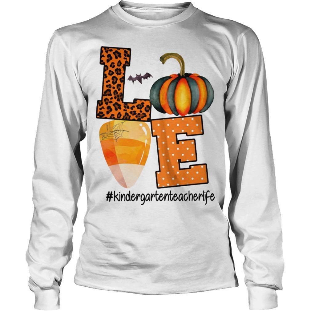 Leopard Print Pumpkin Beach Love #kindergartenteacherlife Longsleeve