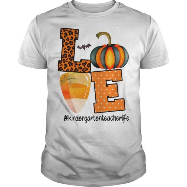 Leopard Print Pumpkin Beach Love #kindergartenteacherlife Shirt