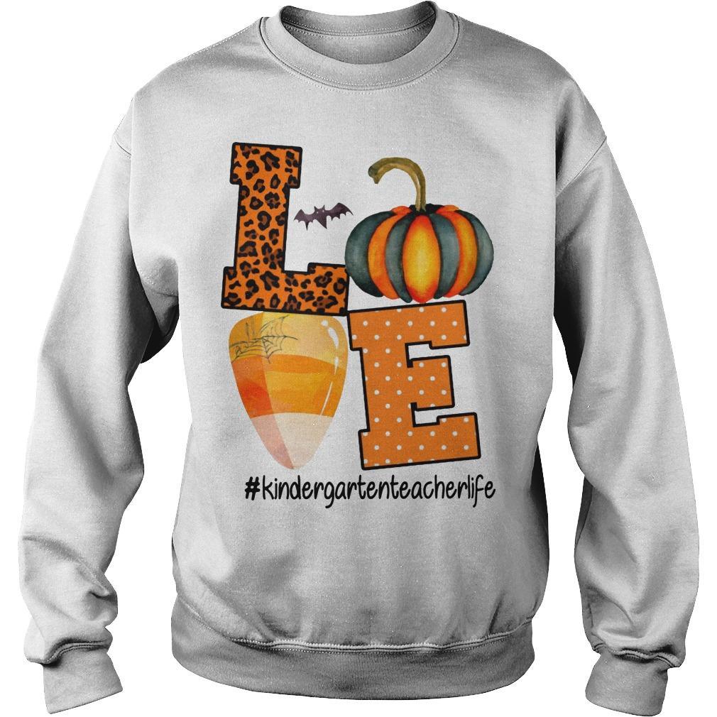 Leopard Print Pumpkin Beach Love #kindergartenteacherlife Sweater