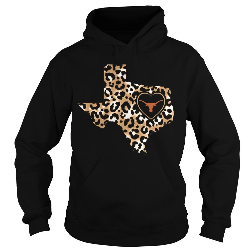 Leopard Print Texas Longhorns Hoodie