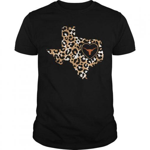 Leopard Print Texas Longhorns Shirt